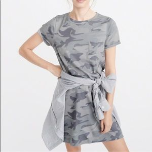 Abercrombie & Fitch Camo Shirt Dress PETITE Small